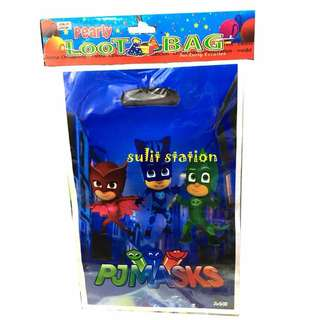 PJ MASKS PARTY PLASTIC LOOT BAG SOUVENIRS FAVOR