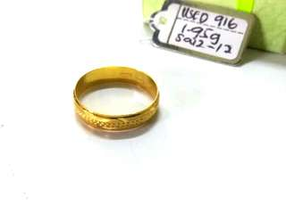 (Authentic Used 916) Ring Size 12