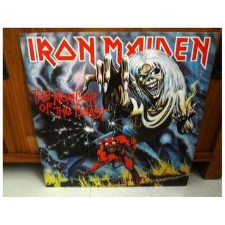 Iron Maiden The Number Of The Beast Early Pressing Vinyl LP Record
