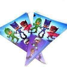 PJ MASKS PARTY BANNERS FLAG BANDERITAS DECORATION