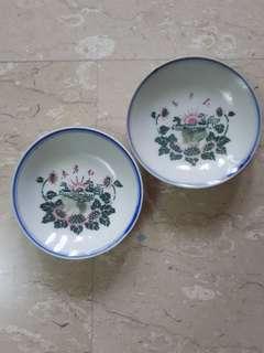东方红 plate ×2, dia 11cm, 文革收藏