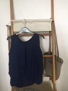 Navy Blue Corporate/Casual top