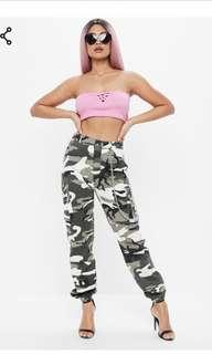 Misguided khaki chain pants 6