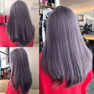 Hair color balayage ombré bleach package promotion