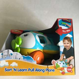 WINFUN Sort N Learn Pull Along Plane