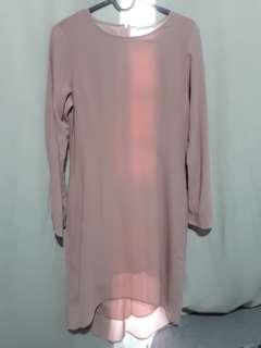 Poplook Blush Pink Kurung Top