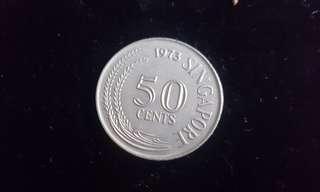 1973 50 cents Singapore