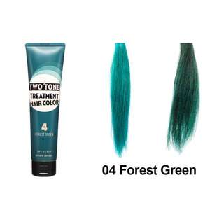 Etude House Two Tone Treatment Hair Color - #4 Forest Green