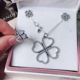 Clover hearts pandora jewelry set