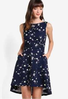Zalora Dipped Hem Dress with Pockets
