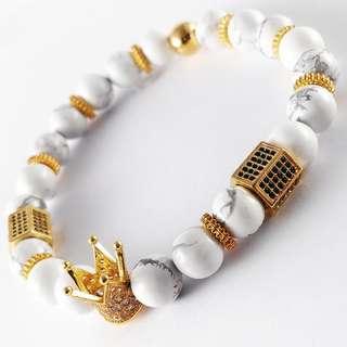 Alteza Bracelet (White and Gold)