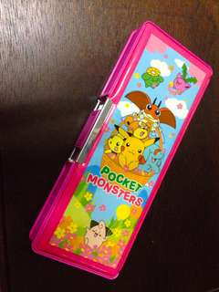 Pikachu Double-sided Pencil Box from Japan