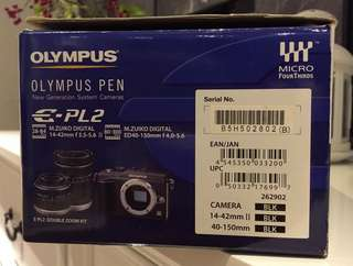 Olympus Pen E-PL2 Double Zoom Kit - preloved