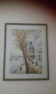Framed painting from Paris