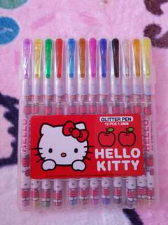 Hello kitty glitter pen