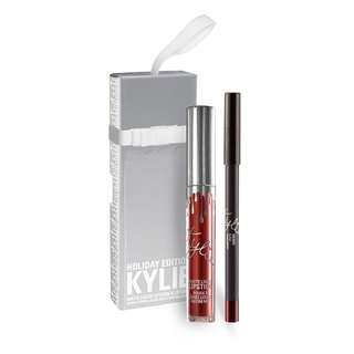 Kylie Holiday Edition Liquid lip duo in Merry