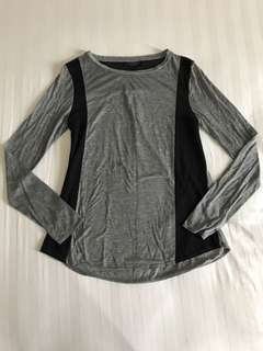 Topshop Grey & Black Maternity Top