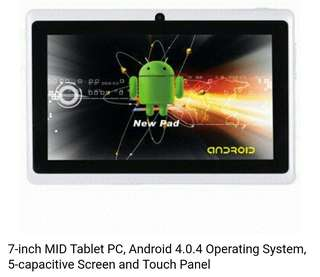NEW ~平板電腦 tablet 7-inch MID Tablet PC, Android 4.0.4 Operating System, 5-capacitive Screen and Touch Panel