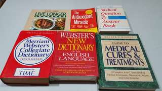 Medical Books Dictionaries and Healthy Cook Book