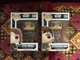 SET -Star Wars Rogue One Funko Pop