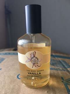The body shop vanilla eau de toilette