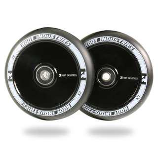 Root 110mm AIR Wheels for Freestyle Stunt Scooter - Black/Black