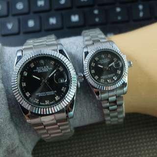 Rolex rantai diamond couple murah