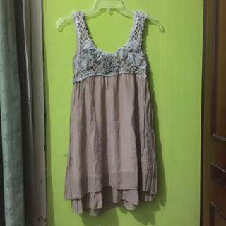 Dress / Atasan Babydoll Coklat Susu