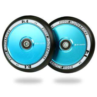 Root 110mm AIR Wheels for Freestyle Stunt Scooter - Black/Blue