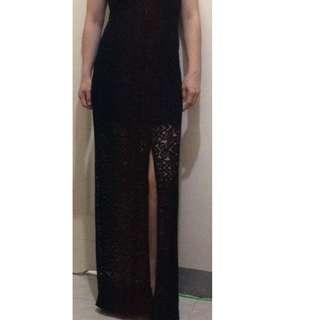 UNAROSA Long Lace type Dress (Brand New)