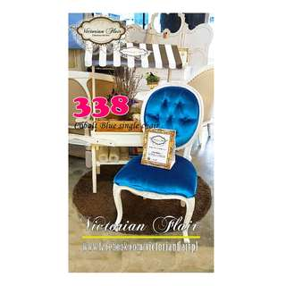 GSS SALE 18 - Cobalt Blue Single Chair by VICTORIAN FLAIR