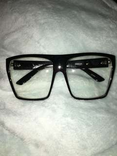 Oversized Eyeglasses Flat Top