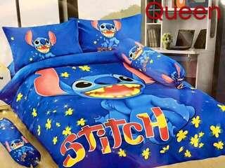Stitch Bedsheet & Pillow 6 in 1 Queen Size Set