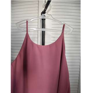 Hanging Sleeveless (Solid Pink)