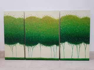 3 piece canvas painting (150x90)