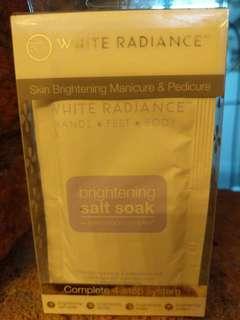Skin brightening manicure and pedicure
