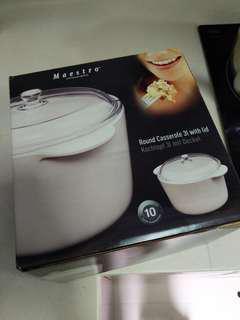 Maestro vitroceramic round casserole 3l with lid