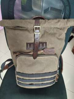 Fossil Backpack vintage half leather 100% ORI