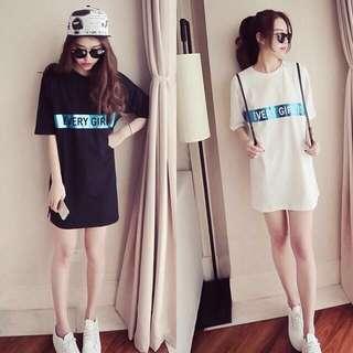🚚 (特價)韓版休閒舒適寬鬆女裝長版T恤短袖上衣
