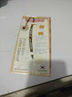 Korean Book Mark/Letter Opener