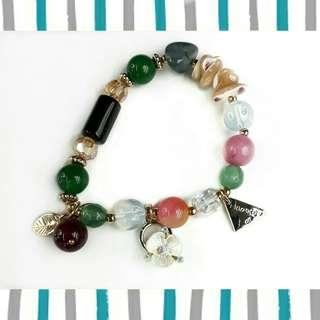 Charm bracelet Clover design