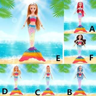 Colorful lights music mermaid toy princess doll gift box birthday gift
