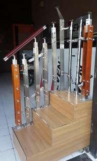 Railing tangga Railing Balkon Railing Kaca