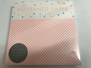 Patterned paper notepad