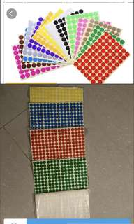 10mm coloured dots sticker (192 in one sheet)