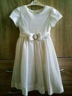 Elegant White Dress for 7T