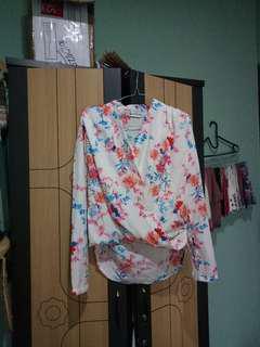 Hervelvetvase blouse
