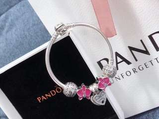 Pandora 潘朵拉新款手鏈 支持對比 925純銀 時尚百搭