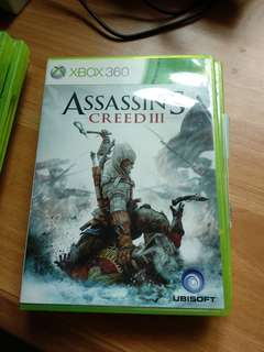 Assasins creed 3 xbox 360