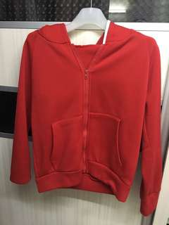 Red hoodie with ears
